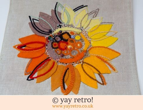 0: Sunflower Embroidery Applique Panel (£8.00)