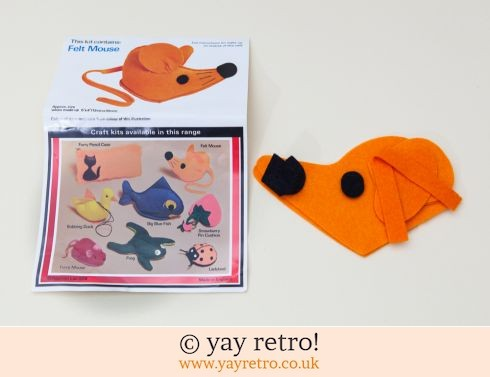 1978 Felt Mouse Sewing Kit (£2.50)