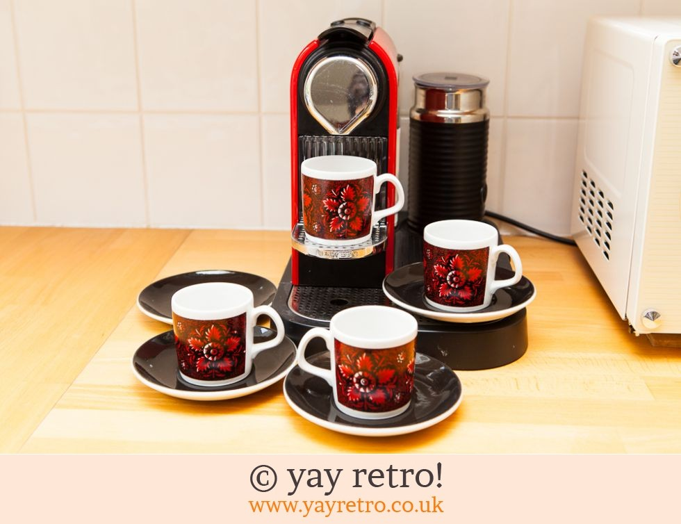 Staffordshire Pottery: 70s Funky Espresso Set (£5.20)