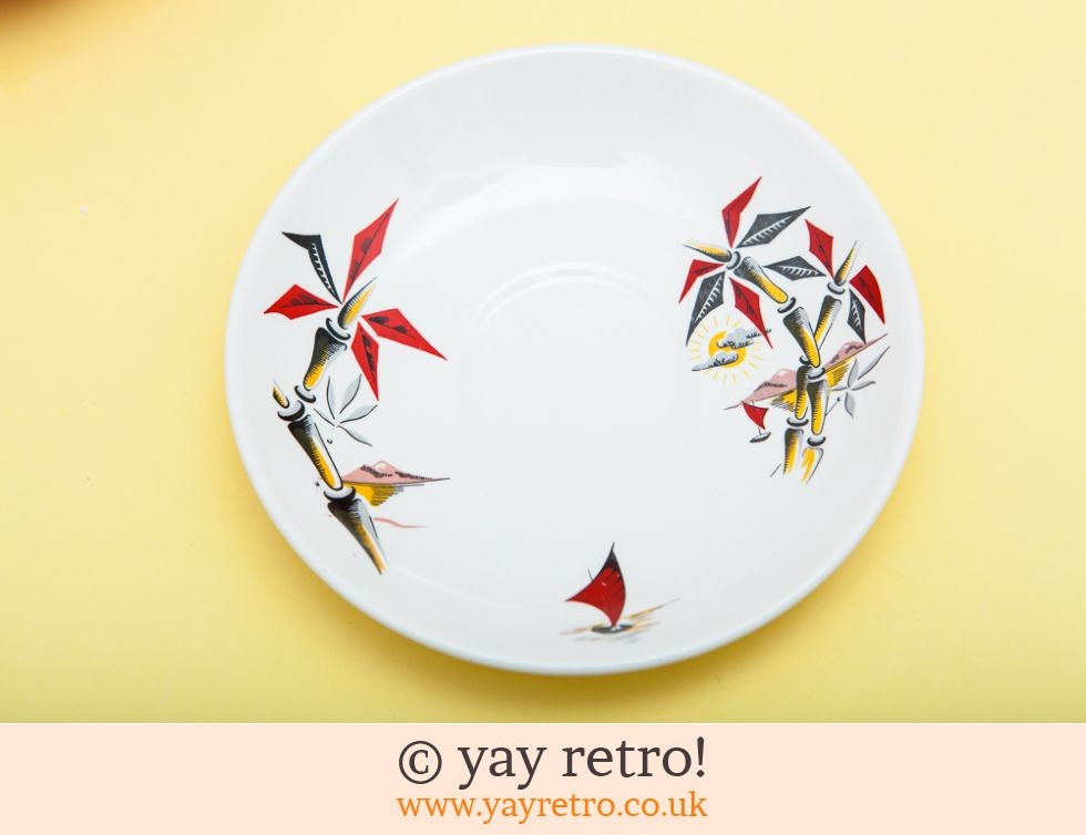Red 50s Cups, Saucers & Sugar (£20.00)