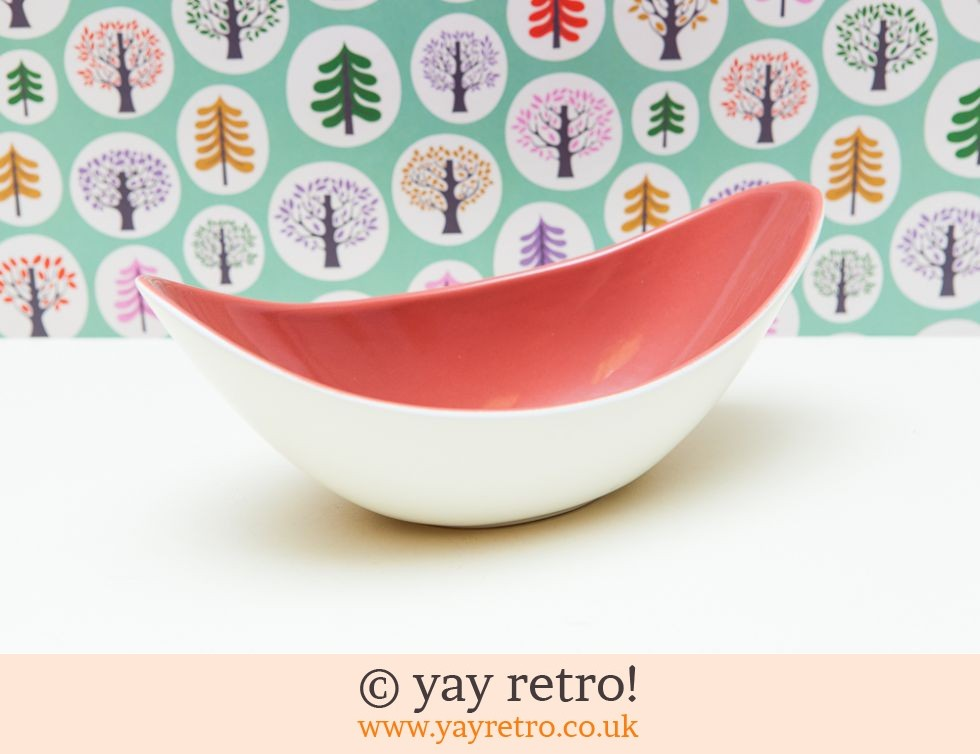 Poole Freeform  Fruit Dish - Red Indian (£27.50)