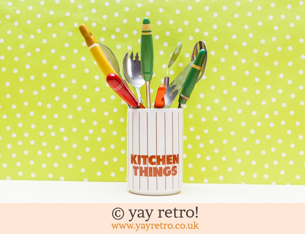 Stripe Kitchen Utensil Holder Buy Yay Retro Handmade