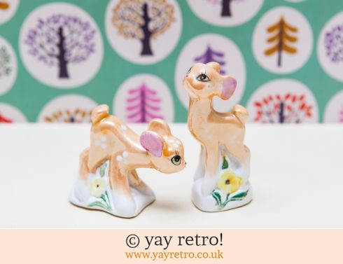 0: Pretty Lustreware 50/60s Deer Couple (£19.50)