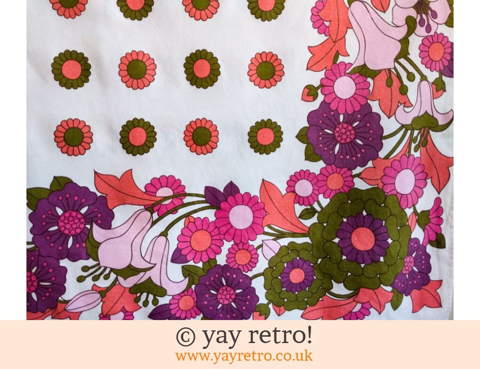 Gorgeous Flower Power Tablecloth (£20.00)