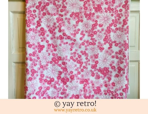0: Pink Vintage Daisy Double Bed Sheet (£14.00)