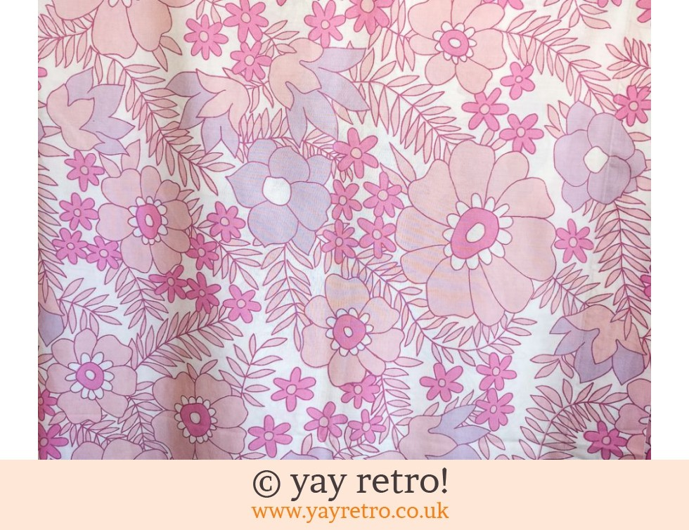 Pink Flowery Vintage Double Bed Sheet (£18.00)