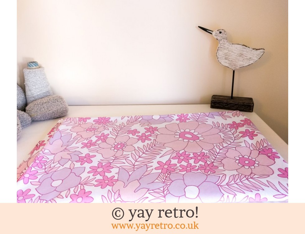 Dorma: Pink Flowery Vintage Double Bed Sheet (£18.00)