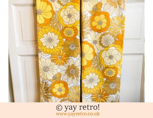 0: Vintage M&S Yellow Flowery Pillow Cases x 2 (£12.00)