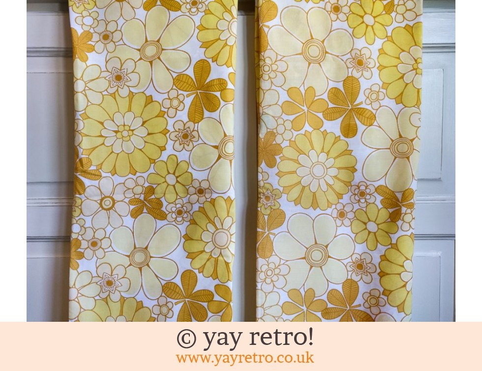 Rare Yellow Flowery Vintage Pillowcases (£11.00)