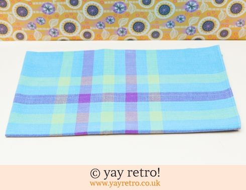 0: Vintage Blue Check Tablecloth (£5.00)
