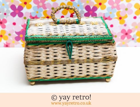 0: Vintage Woven Sewing Box (Musical) (£17.50)