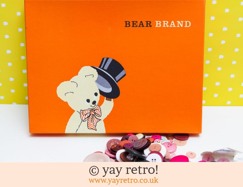 Vintage Bear Brand Box with Buttons (£14.00)