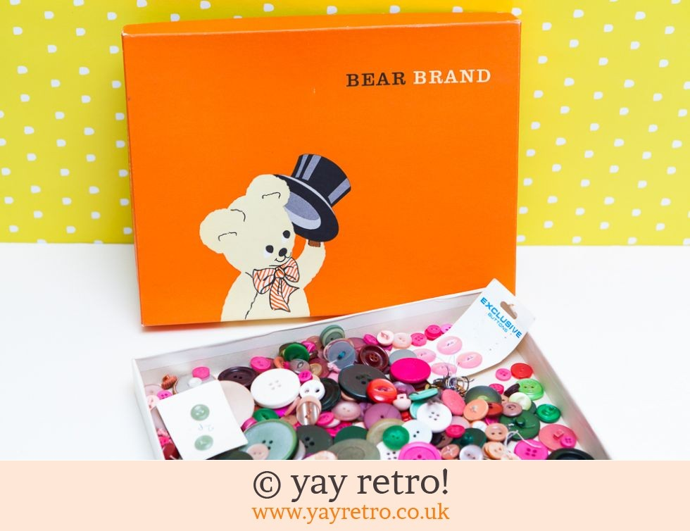 Bear Brand: Vintage Bear Brand Box with Buttons (£14.00)