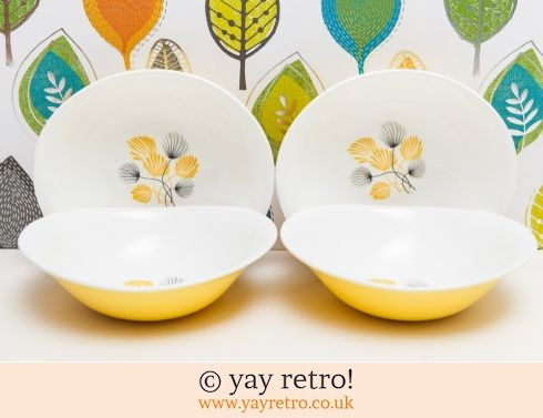 306: Cotton Grass 50s Yellow Bowls (£12.00)