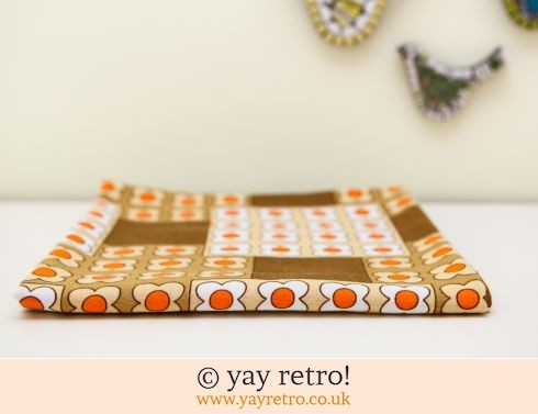 179: 60s Daisy Orange Tablecloth (£17.50)
