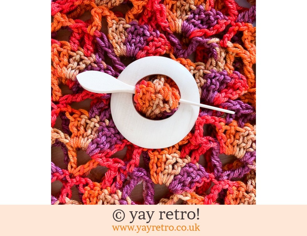 Natural Wood Shawl Pin Buy Yay Retro Handmade Crochet Online Arts Crafts Shop Crochet Shawls Wraps Blankets Hot Water Bottle Covers And