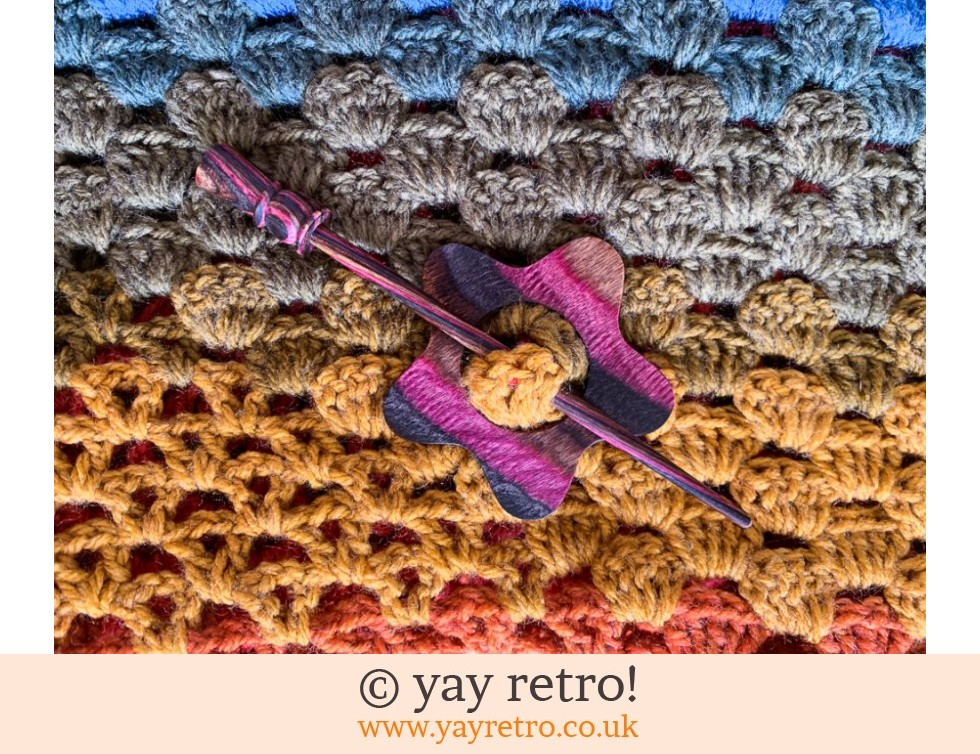 Flower Shawl Pin Buy Yay Retro Handmade Crochet Online Arts Crafts Shop Crochet Shawls Wraps Blankets Hot Water Bottle Covers And Vintage