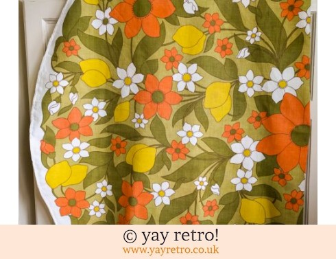 0: 1970s Round Flowery Tablecloth (£12.00)