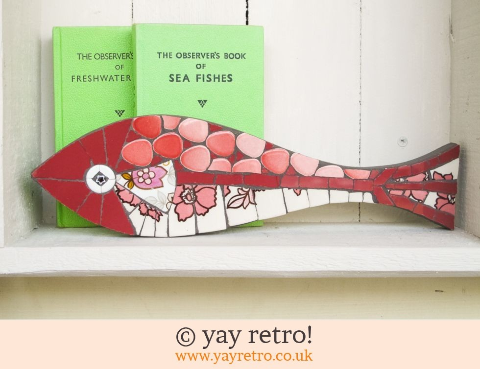 Fiona Gurney Box of Frogs Mosaics: Red & Pink Mosaic Fish (£26.00)