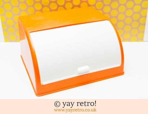 0: Bright Orange 60s Bread Bin (£32.00)