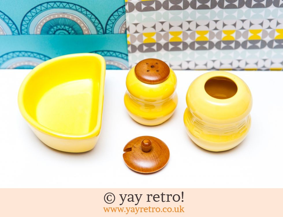Scandi Yellow Salt & Pepper Set (£11.50)