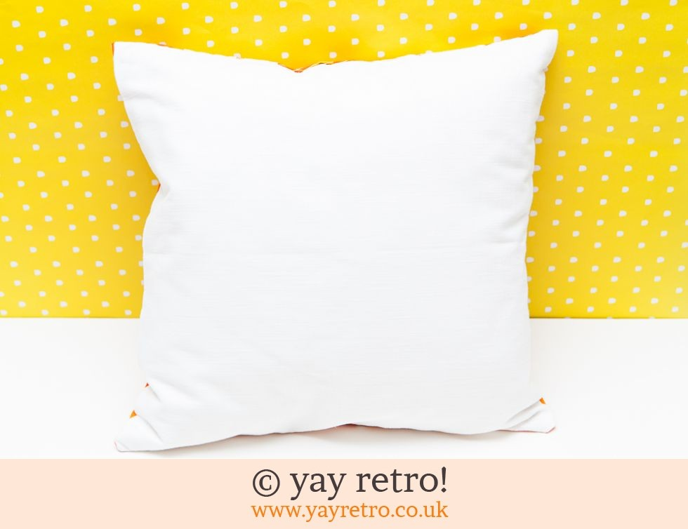 Bright Orange 60s Cushion (£18.00)