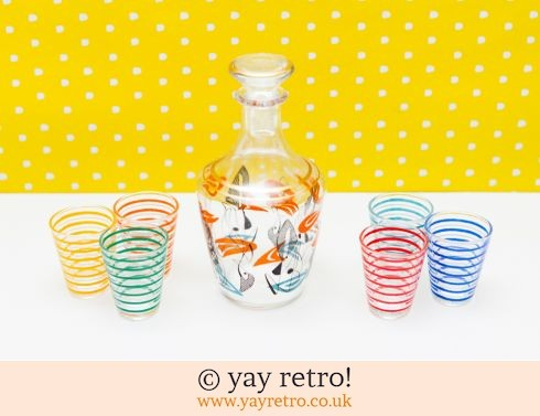 0: Abstract Decanter & 50s Shot Glasses (£22.50)