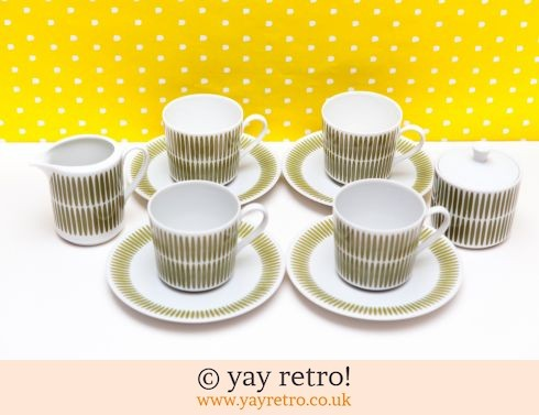 144: 70s  Fine Bone China Coffee Set (£18.50)