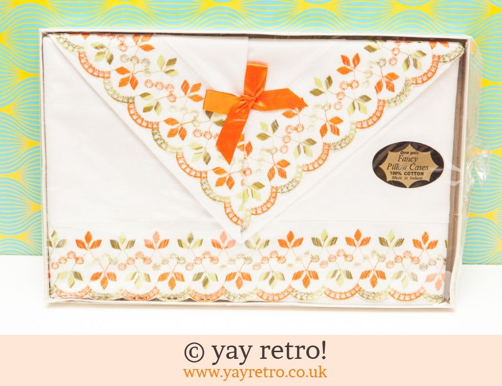 Orange Vintage Pillowcases (£8.00)