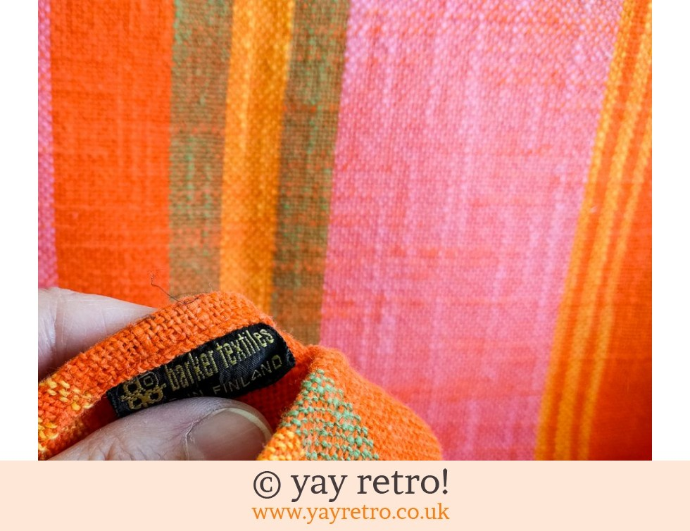 Orange & Pink Vintage Tablecloth Finland (£12.75)