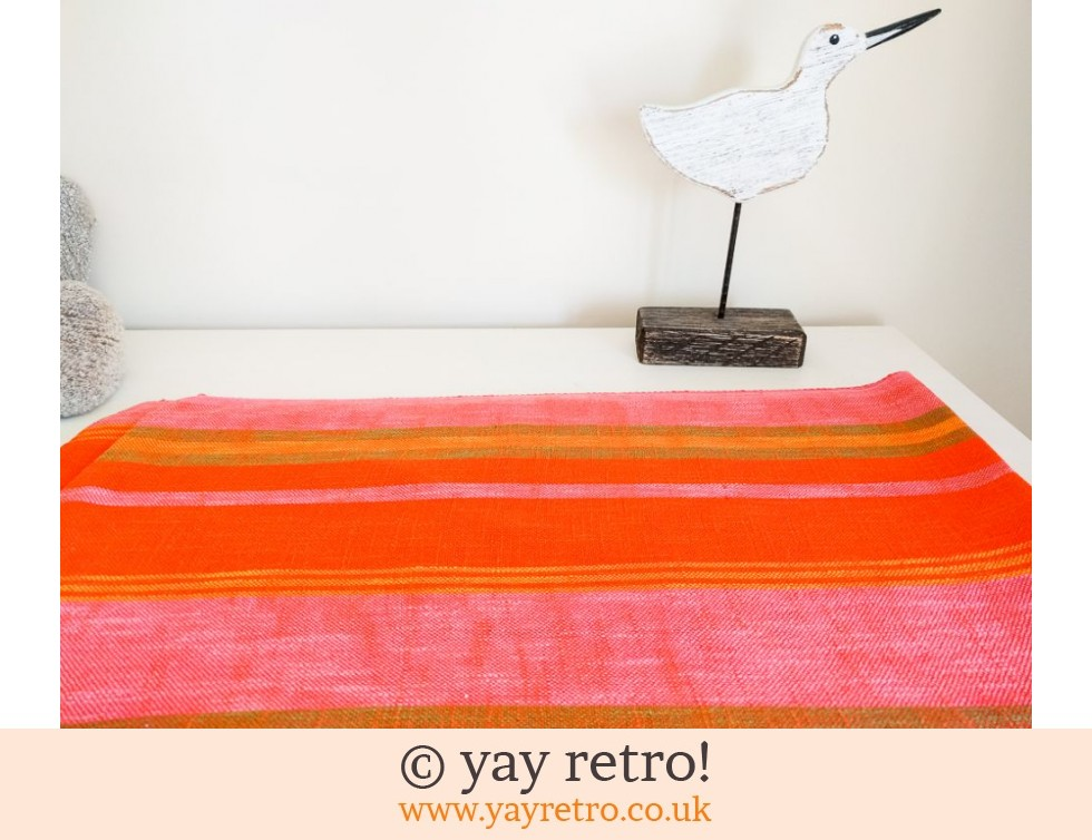 Barker Textiles Finland: Orange & Pink Vintage Tablecloth Finland (£12.75)
