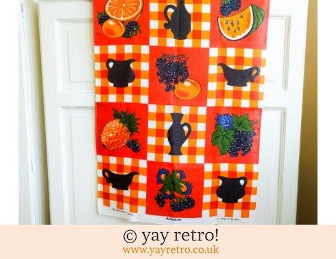 640: Bright Orange Pineapple Tea Towel (£8.50)