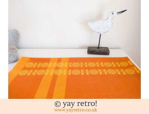 0: Vintage Daisy Orange Tablecloth (£18.50)