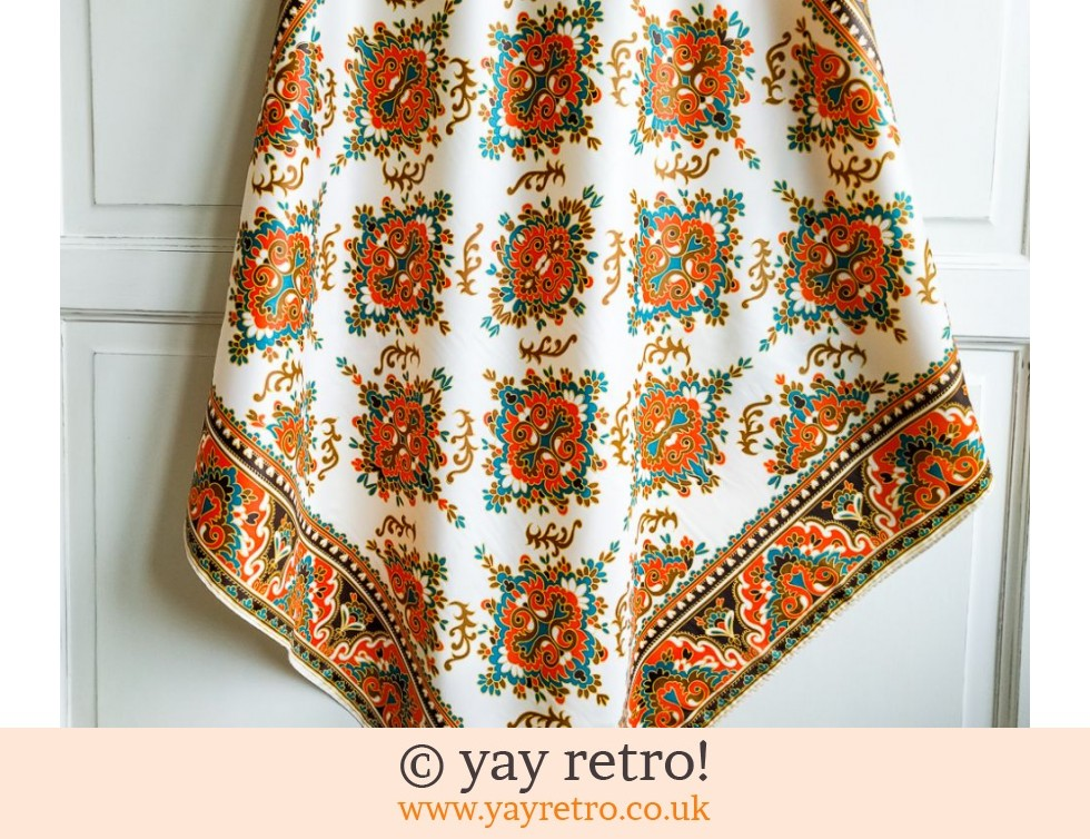 Orange Vintage Head Scarf (£3.00)