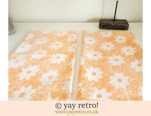 0: Orange Flowery Pillowcases (£8.95)