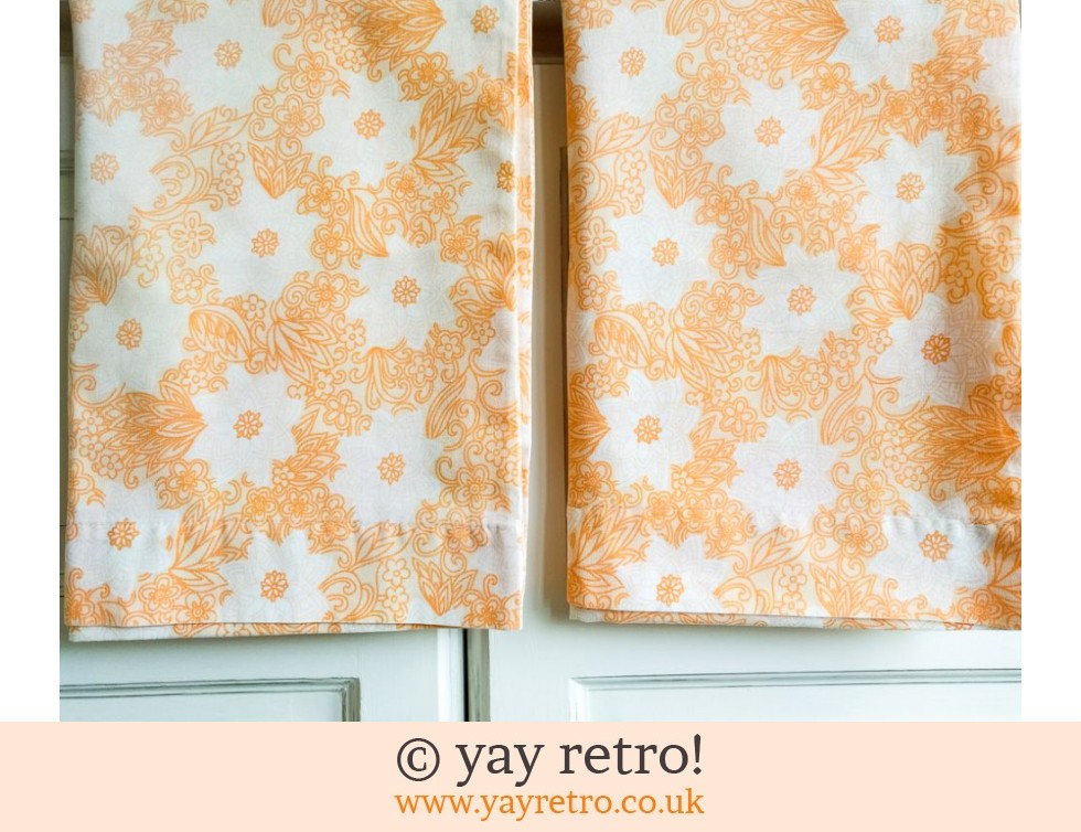 Orange Flowery Pillowcases (£8.95)
