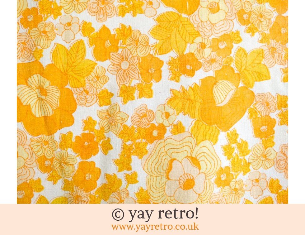 Orange Flower Power Double Cotton Sheet (£24.50)