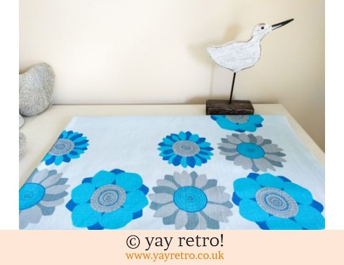 0: Blue 60s Daisy Tablecloth (£18.50)