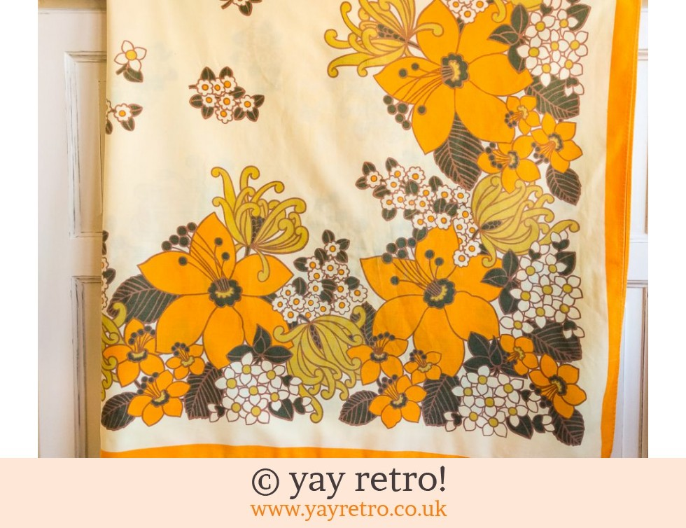 Orange Flower Power Tablecloth 1960/70s (£17.50)
