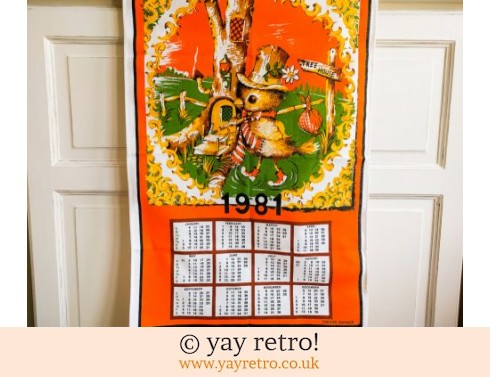 0: Vintage Cotton 1981 Orange Birdie Calendar (£12.00)