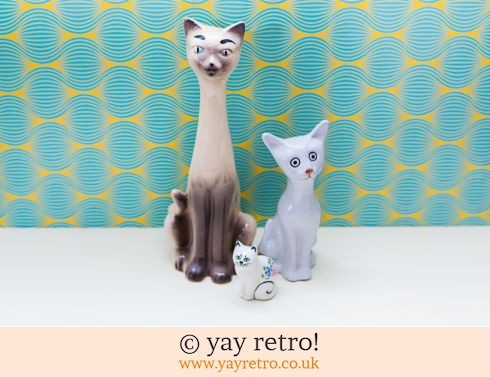 0: Tall Mid Century Cats - job lot (£12.75)