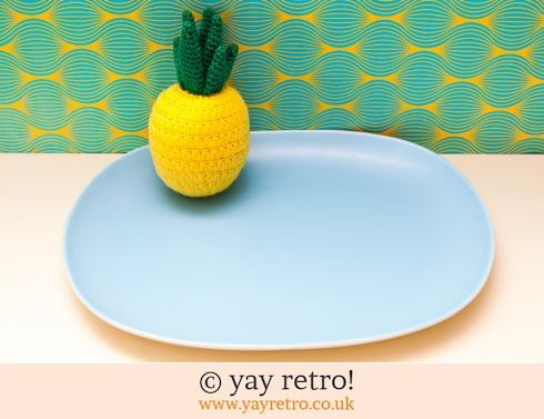 1: Sky Blue Oval Charger Plate (£14.00)