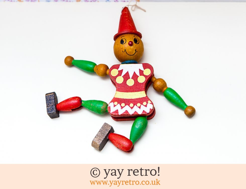 1950/60s Wooden Dancing Clown (£6.50)