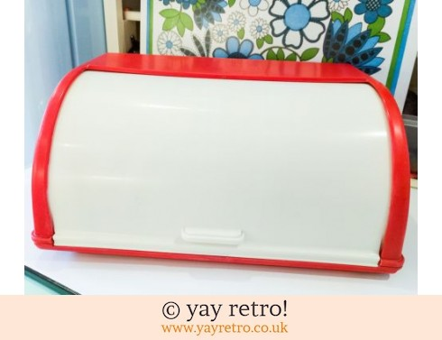 0: Bright Red Roll Top 60s Bread Bin (£36.95)