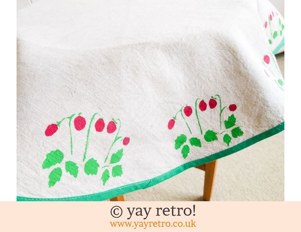 Vintage Tablecloth - Strawberries (£5.50)