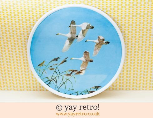 224: Flying Swans 1960s Melamine Tray Artwork (£22.50)