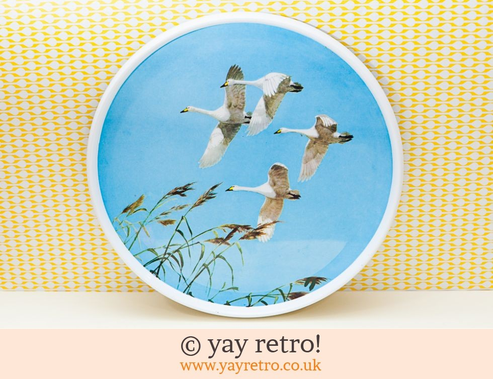 Praesidium : Flying Swans 1960s Melamine Tray Artwork (£19.95)