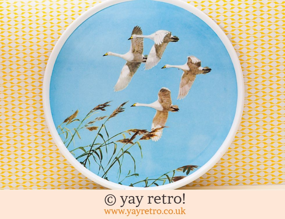 Flying Swans 1960s Melamine Tray Artwork (£19.95)