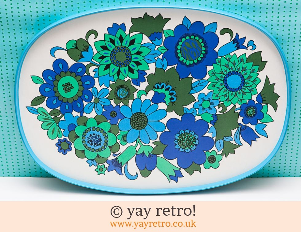 Best Ever XL Blue Vintage Flowery Tray (£23.95)