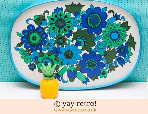 118: Best Ever XL Blue Vintage Flowery Tray (£23.95)